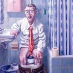 Un hombre mediocre. 1984. Óleo / lienzo 130 x 97 cm.