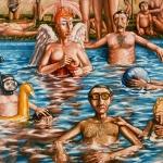 Piscina. 1984. Óleo / lienzo 130 x 162 cm.
