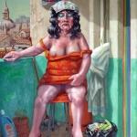 Una puta embadurnada de Nivea. 1983. Óleo / lienzo 97 x 73 cm.