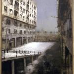 Patio de sombras. 1997. Técnica mixta / Zinc 135 x 95 cm.