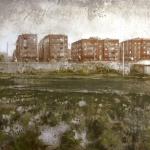 Desde la huerta. 1998. Técnica mixta / zinc. 95 x 135 cm