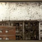 Casa del muerto. 1998. Técnica mixta / zinc 45 x 95 cm