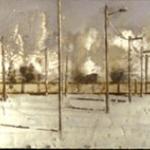 Ferial. 1999. Técnica mixta / zinc. 35 x 195 cm.