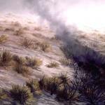 Serie Ceniza húmeda. 1992. Óleo / tela 114 x 146 cm.