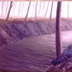 Serie Ceniza húmeda. 1991. Óleo / tela  60 x 200 cm