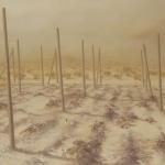 El desierto cercano. 1993. Óleo / tabla  97 x 146 cm.