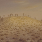 El desierto cercano. 1993. Óleo / tabla 63 x 123 cm.