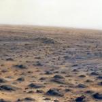 El desierto lejano. 1993. Óleo / tabla 40 x 120 cm.