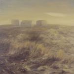 El desierto cercano. 1993. Óleo / tabla 100 x 100 cm.