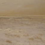 El desierto cercano. 1993. Óleo / tabla  89 x 146 cm.