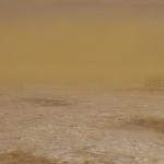 El desierto lejano. 1993. Óleo / tabla  60 x 120 cm.