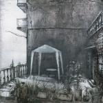 Barcelona. 2002. Técnica mixta / zinc. 130 x 130 cm.
