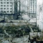 Caracoles. 2003. Técnica mixta / zinc. 130 x 130 cm