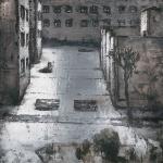 Parroquia. 2002. Técnica mixta / zinc. 130 x 130 cm