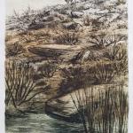 Colección de grabados Un viaje 2016. Aguafuerte y aguatinta sobre pape artesano de algodón.