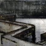 Terrazas. 2005. Técnica mixta / zinc 25 x 70 cm.