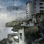 Arquitectura ( II ). 2005. Técnica mixta / zinc 40 x 40 cm.