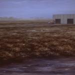 Paisaje límite 1989. Óleo / lienzo 89 x 146 cm.