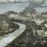 Canal en Monegros. 2005. Técnica mixta / zinc 22 x 57 cm.