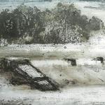 Bocal del Canal Imperial (II). 2005. Técnica mixta / zinc 24 x 52 cm.