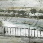 Canal. 2005. Técnica mixta / zinc 24 x 52 cm.