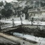 Bocal del Canal Imperial ( I ). 2005. Técnica mixta /zinc 29 x 41 cm.