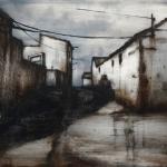 Sombra de Monegros. 2010. Técnica mixta / aluminio 63 x 83 cm