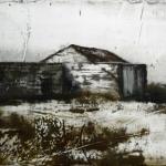 El coche de Goya. 2008. Técnica mixta / zinc. 40 x 90 cm.