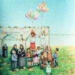 (Sin titulo ) 1981. Lápiz de color / papel 70 x 50 cm.