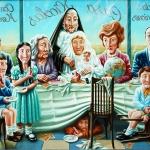 Primera comunión. 1982. Óleo / lienzo 114 x 146 cm.