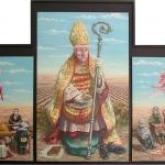 Milagro.1984 (Tríptico). Óleo /lienzo 130 x 200 cm.